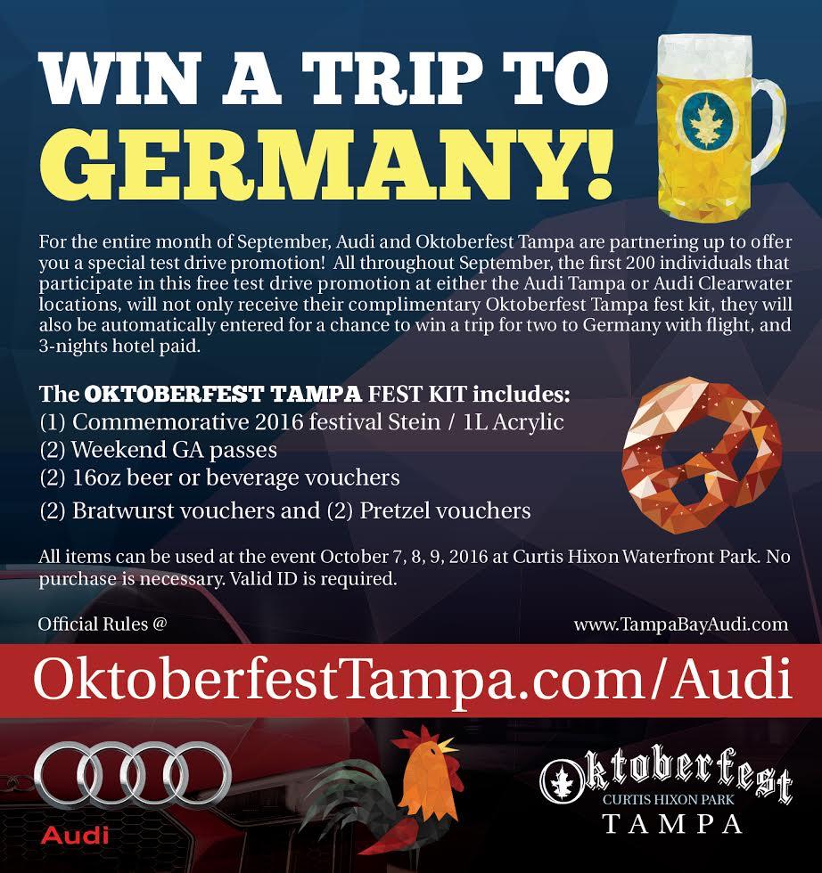 AudiOktoberfest Tampa Test Drive Oktoberfest Tampa Curtis Hixon - Audi tampa
